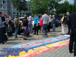 Kundgebung vor dem SWD-Gebäude am 4. Juli