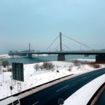 Die Rheinbrücke Leverkusen der A1 im Januar 2013