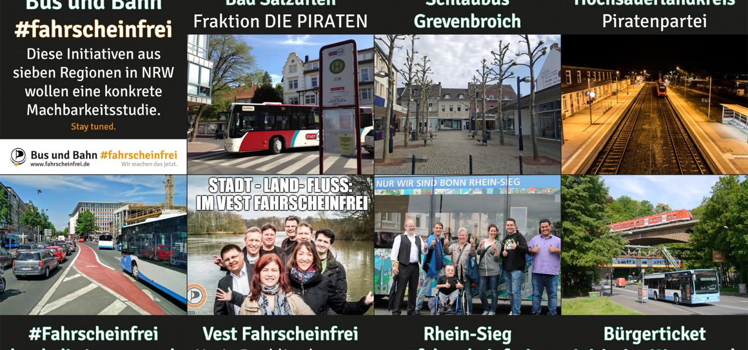 Bus und Bahn #fahrscheinfrei: Sieben Gemeinden, eine Machbarkeitsstudie